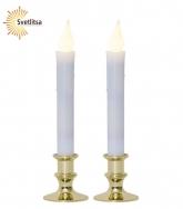 Свечи LED в подсвечниках METTE х 2 шт