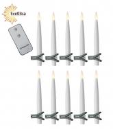 Свечи LED на прищепках PAULINA x 10 шт с пультом д/у