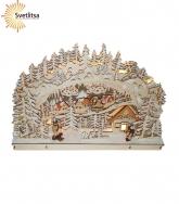 Декорация рождественская ЗИМНЯЯ ДЕРЕВНЯ