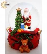 "Снежный шар ""Санта с подарками"""