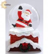"Снежный шар ""Санта на трубе"""