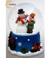 """Снежный шар """"Снеговик с мальчиком"""""""