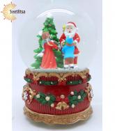 """Снежный шар """"Вручение подарков от Санты"""""""