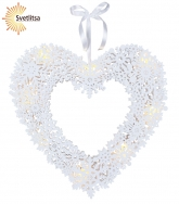 Светильник-подвес SNOWFLAKE HEART 44 см