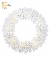 Светильник-подвес SNOWFLAKE WREATH 33 см