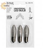 Лампочка универсальная LED Е10