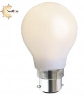 Лампочка универсальная B22 LED матовая