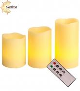 Свечи LED с пультом 3 шт.