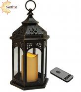 Фонарь c LED свечой AMBRA 33 см