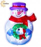 Декорация Снеговик с венком