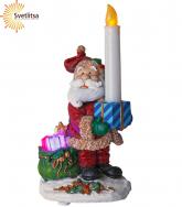 Светильник рождественский САНТА СО СВЕЧОЙ